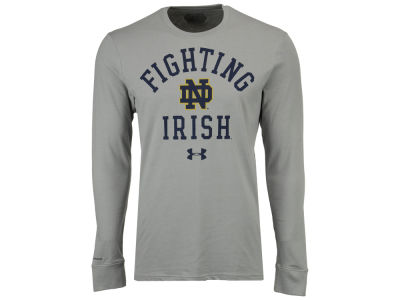 Notre Dame Fighting Irish Under Armour NCAA Men's College Classic Charged Cotton Long Sleeve T-Shirt