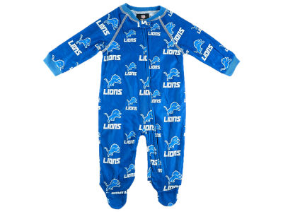 Detroit Lions NFL CN Newborn All Over Print Raglan Full Zip Coverall