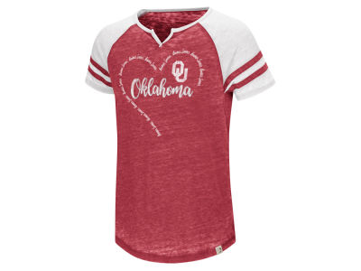 Oklahoma Sooners Colosseum NCAA Youth Girls Heart Raglan T-Shirt