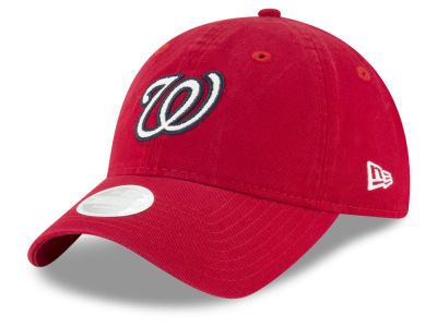 Washington Nationals New Era MLB Women's Team Glisten 9TWENTY Cap