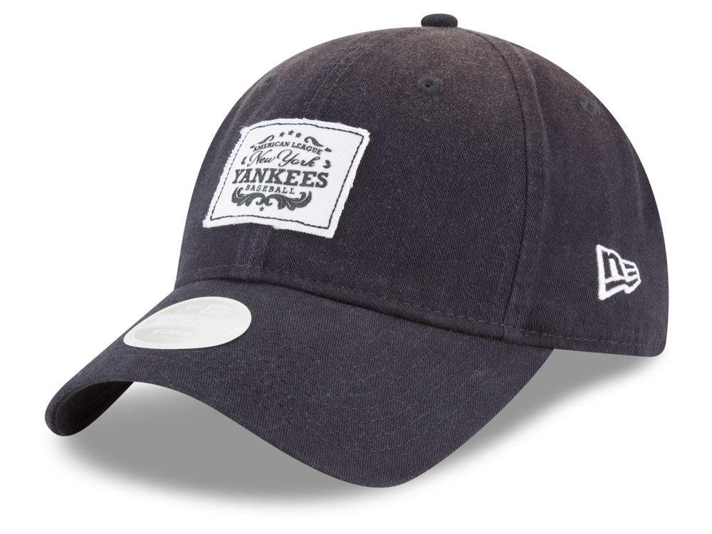 New York Yankees New Era MLB Women s Vintage Patch 9TWENTY Cap ... 3dd367c3f20a