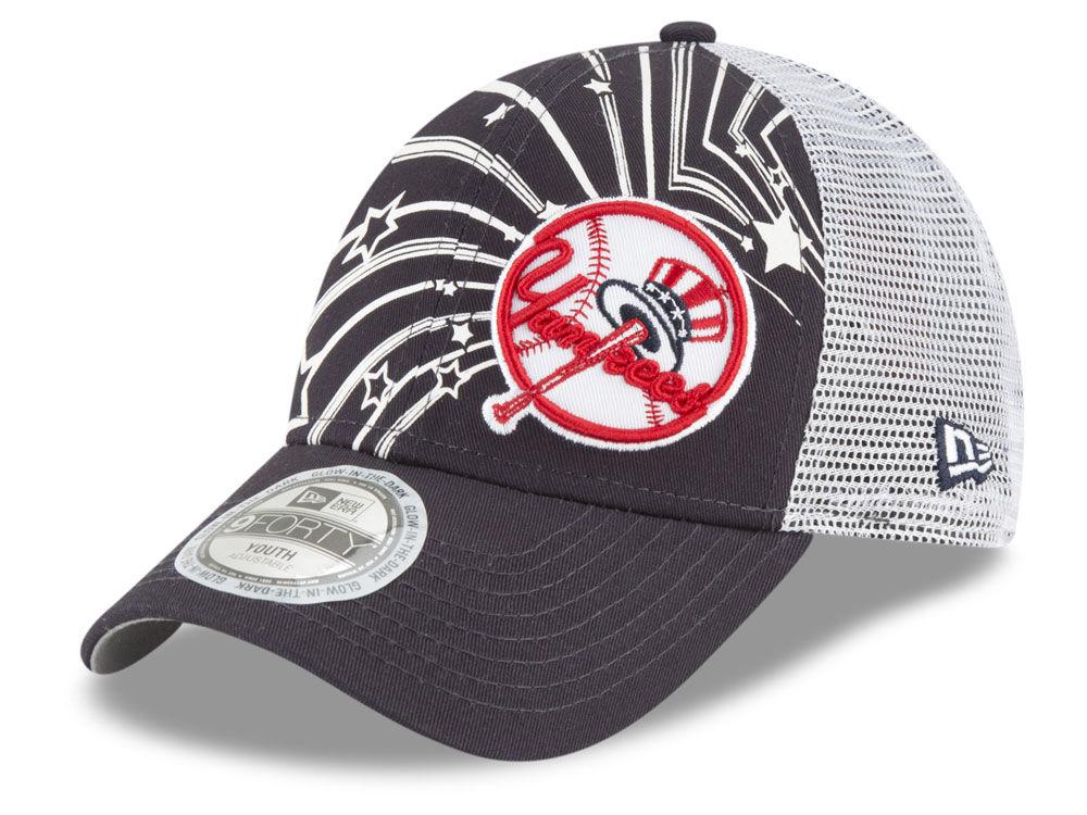 New York Yankees New Era MLB Youth Mascot Glow 9FORTY Cap  b5abe8858df0