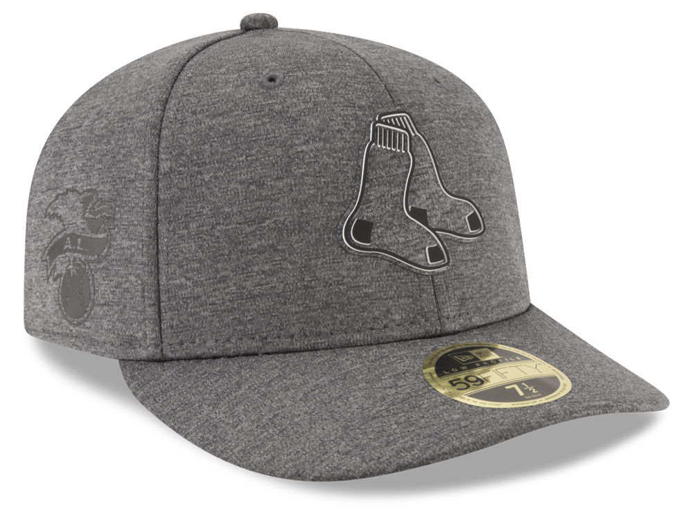 51c8a3952c1ab Boston Red Sox New Era MLB Clubhouse Gray Low Profile 59FIFTY Cap ...