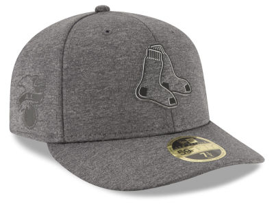 Boston Red Sox New Era MLB Clubhouse Gray Low Profile 59FIFTY Cap