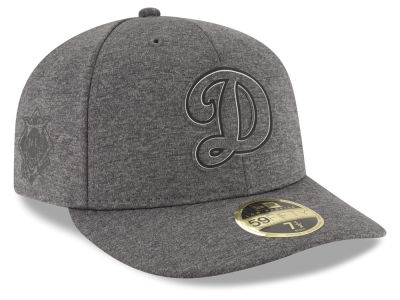 Los Angeles Dodgers New Era MLB Clubhouse Gray Low Profile 59FIFTY Cap