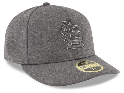 St. Louis Cardinals New Era MLB Clubhouse Gray Low Profile 59FIFTY Cap
