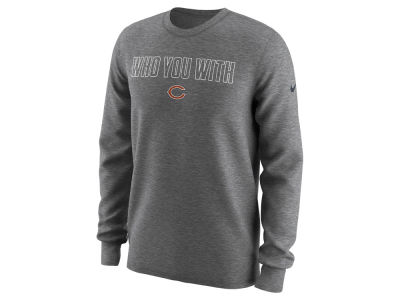 Chicago Bears Nike NFL Men's Who You With Longsleeve T-Shirt