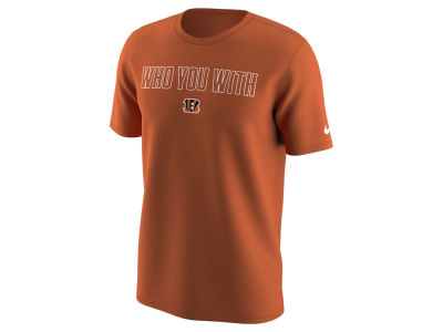 Cincinnati Bengals Nike NFL Men's Who You With T-Shirt