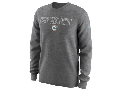 Miami Dolphins Nike NFL Men's Who You With Longsleeve T-Shirt