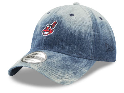 Cleveland Indians New Era MLB Denim Wash Out 9TWENTY Cap