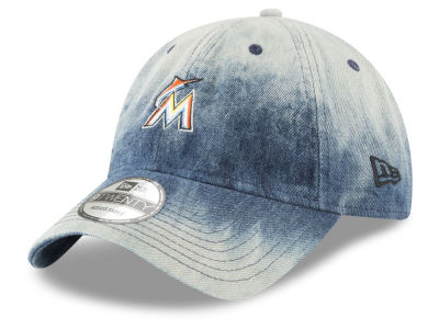 Miami Marlins New Era MLB Denim Wash Out 9TWENTY Cap