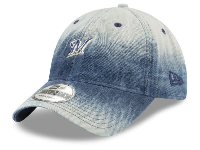 Milwaukee Brewers New Era MLB Denim Wash Out 9TWENTY Cap