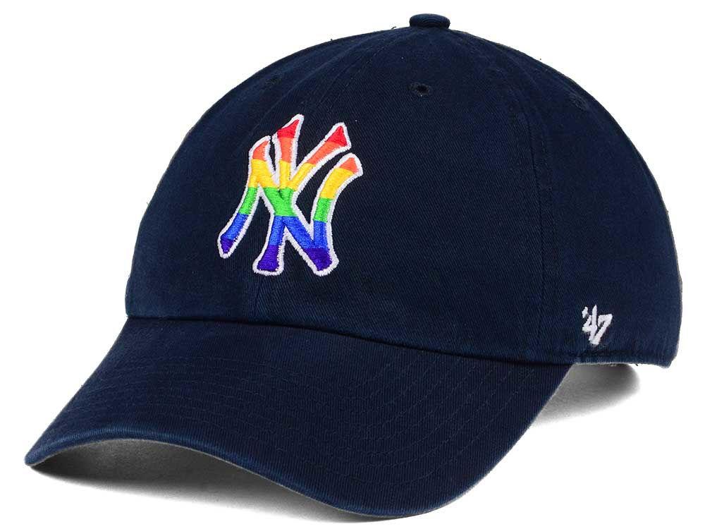 New York Yankees  47 MLB Pride CLEAN UP Cap  a3752e09f2