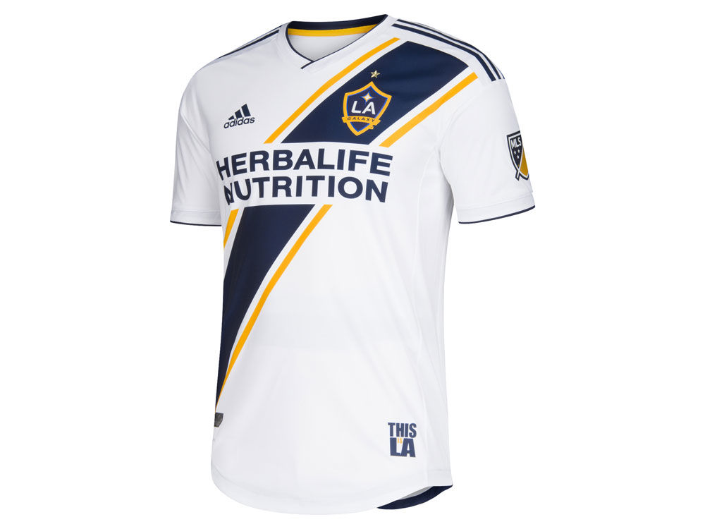 0ff5853ebd3 LA Galaxy adidas MLS Men s Primary Authentic Jersey. Top. LA .