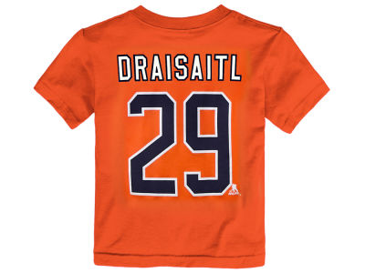 Edmonton Oilers Leon Draisaitl adidas NHL Toddler Player T-Shirt