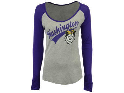 Washington Huskies Retro Brand NCAA Women's Raglan Long Sleeve T-Shirt