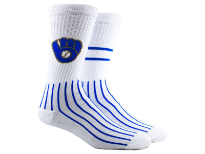 Milwaukee Brewers Parkway MLB Block Crew Socks