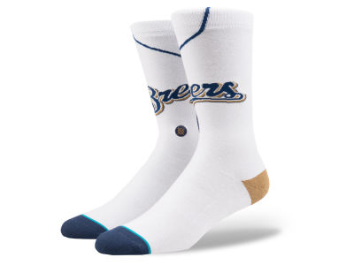 Milwaukee Brewers Stance MLB Home Jersey Series Crew Socks