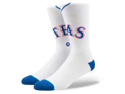 Texas Rangers Stance MLB Home Jersey Series Crew Socks