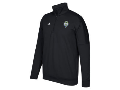 Seattle Sounders FC adidas MLS Men's Logo Set Quarter Zip Fleece Pullover