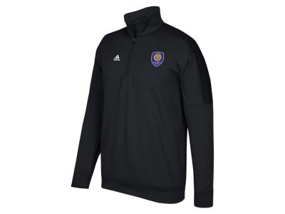 Orlando City SC adidas MLS Men's Logo Set Quarter Zip Fleece Pullover