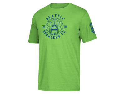Seattle Sounders FC adidas MLS Men's Linear Icon Tri-blend T-Shirt