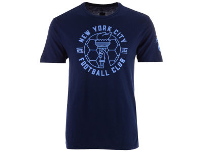 New York City FC adidas MLS Men's Linear Icon Tri-blend T-Shirt