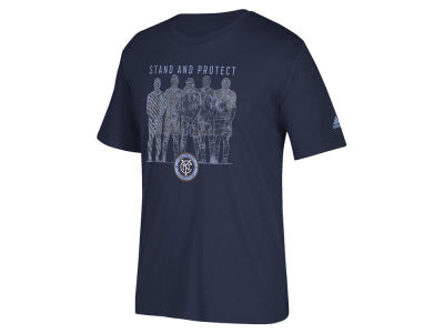 New York City FC adidas MLS Men's The Wall T-Shirt