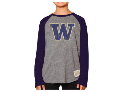 Washington Huskies Retro Brand NCAA Youth Raglan Long Sleeve T-Shirt