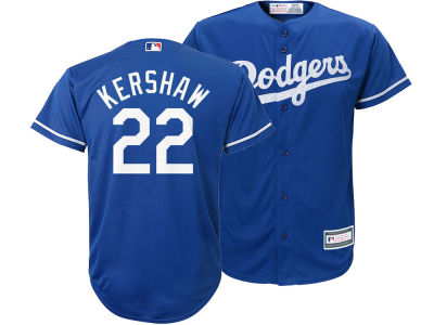 Los Angeles Dodgers Clayton Kershaw Majestic MLB Youth Player Replica Cool Base Jersey