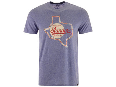 Texas Rangers '47 MLB Men's Coop Tri-blend Match T-Shirt