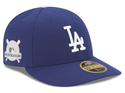 Los Angeles Dodgers New Era 2017 MLB Post Season Low Profile Patch 59Fifty Cap
