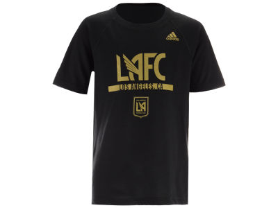 Los Angeles Football Club adidas MLS Youth Recovery Raglan T-shirt