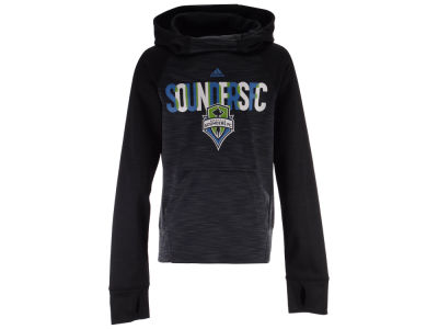 Seattle Sounders FC adidas MLS Youth Girls Target Forward Hoodie