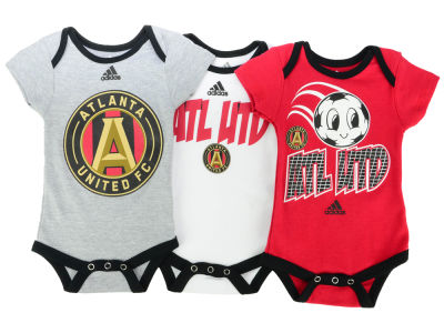 Atlanta United FC adidas MLS Infant Hat Trick 3 Pack Creeper