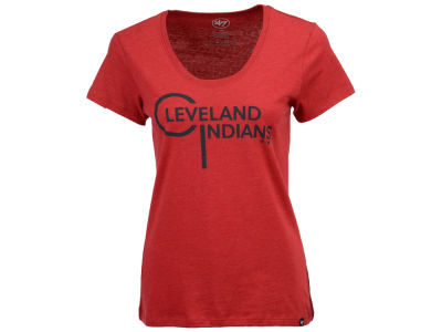 Cleveland Indians '47 MLB Women's Regional Graphic Scoop T-Shirt
