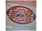 Ohio State Buckeyes Football Shaped Floor Mat Outdoor & Sporting Goods