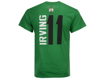 Boston Celtics Kyrie Irving Majestic NBA Men's Vertical Name and Number T-Shirt