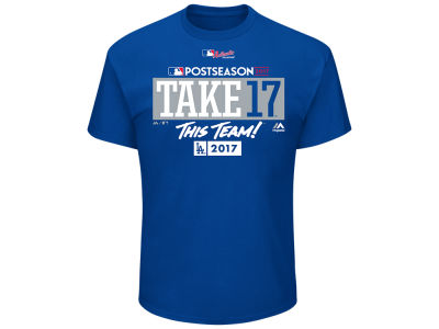 Los Angeles Dodgers Majestic 2017 MLB Men's Postseason Participant T-Shirt