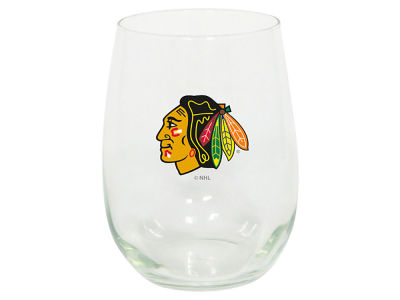 Chicago Blackhawks Stemless Wine Glass