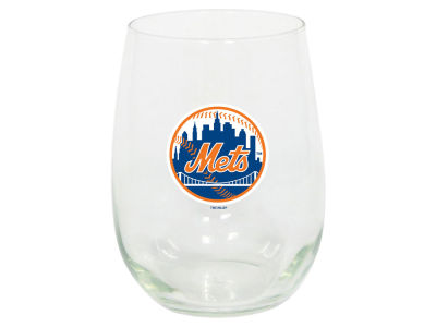 New York Mets Memory Company Stemless Wine Glass