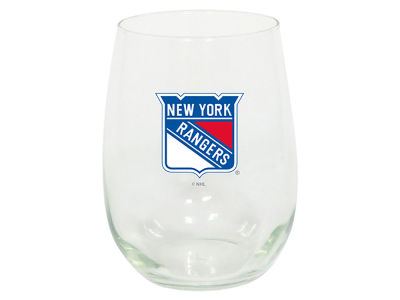 New York Rangers Stemless Wine Glass