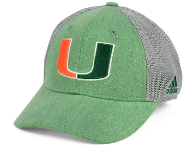 Miami Hurricanes adidas NCAA Heathered Team Flex Cap