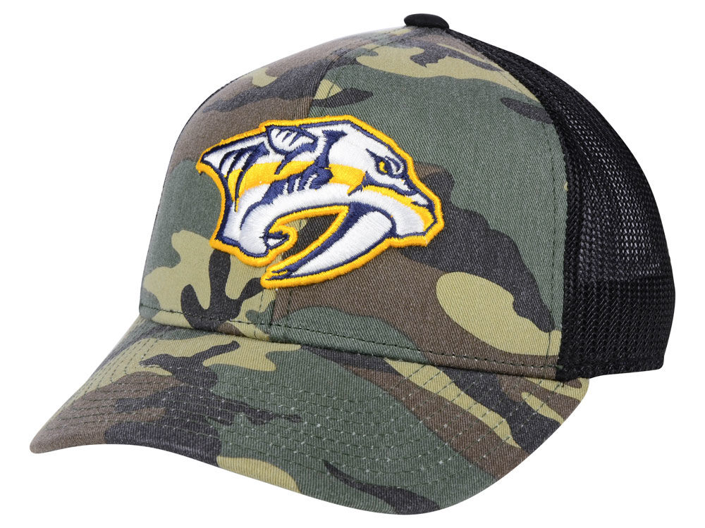 sports shoes 85a46 7a9aa ... snapback hats predators 1385a a53de  new zealand nashville predators  adidas nhl camo trucker cap 5c895 43b90