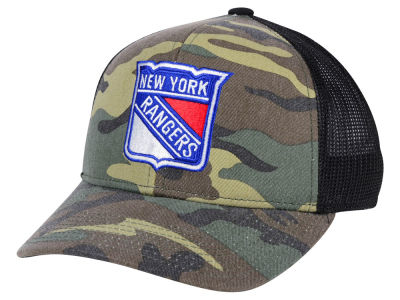New York Rangers adidas NHL Camo Trucker Cap