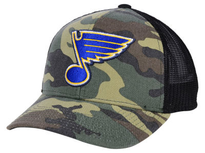 St. Louis Blues adidas NHL Camo Trucker Cap