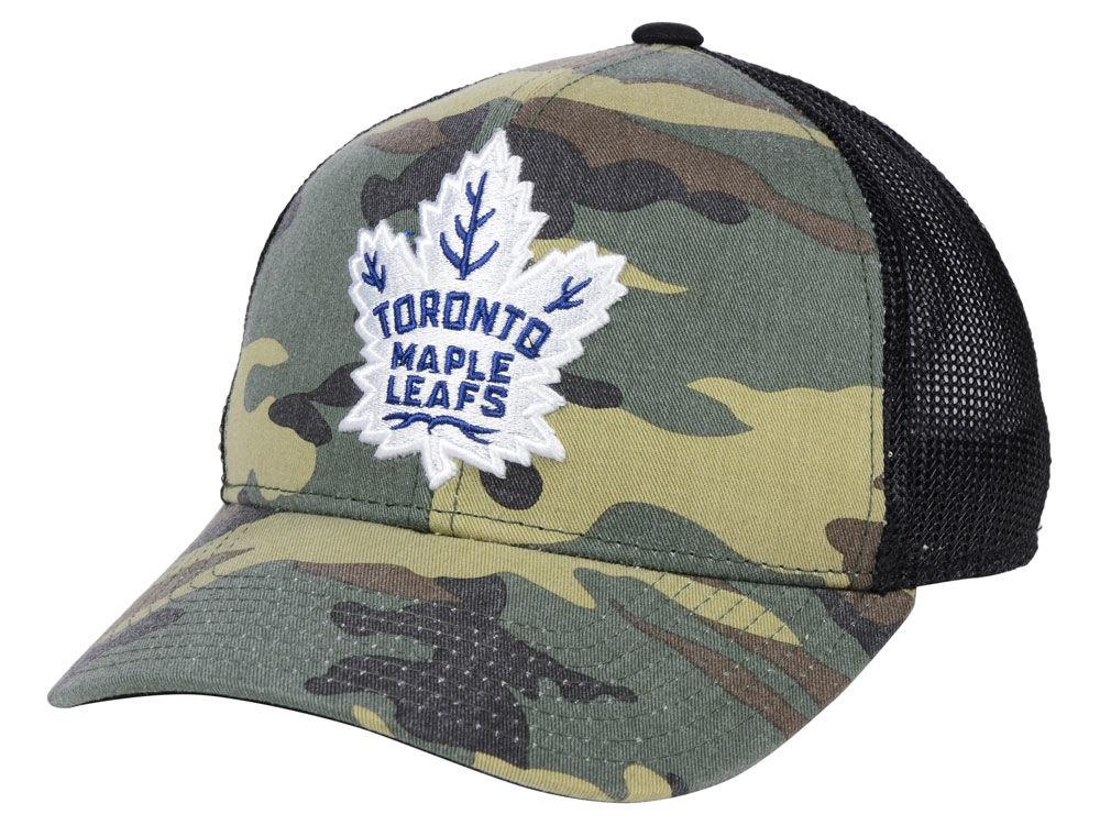 Toronto Maple Leafs adidas NHL Camo Trucker Cap 53e66213f95