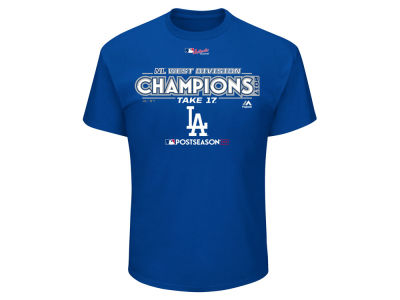 Los Angeles Dodgers Majestic 2017 MLB Youth Division Champ T-Shirt