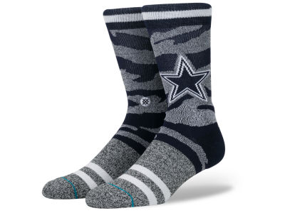 Dallas Cowboys Stance NFL Men's Tiger Stripe Crew Socks