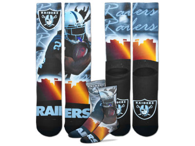 Oakland Raiders Marshawn Lynch For Bare Feet NFL City Star Player Crew Socks